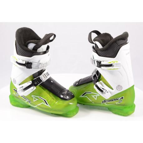 children's/junior ski boots NORDICA TEAM 2 green ( TOP condition )