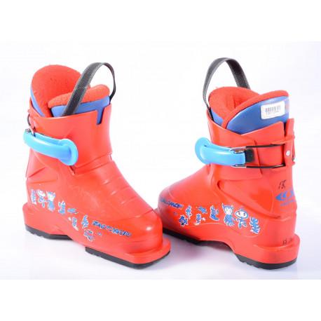 children's/junior ski boots SALOMON T1 red, TELETABIZ ( TOP condition )