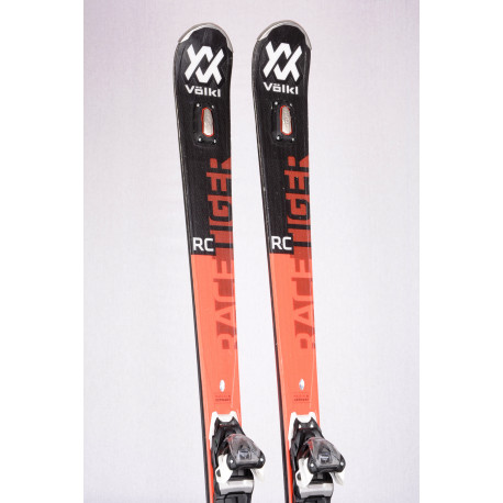 skis VOLKL RACETIGER RC UVO 2020, full sensor woodcore, powered by steel + Marker Motion 10 ( TOP condition )