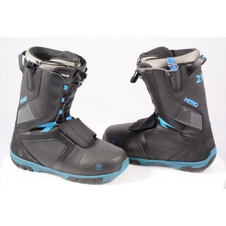 chaussures snowboard NITRO AGENT TLS 2020 BLACK/blue ( comme NEUVES )