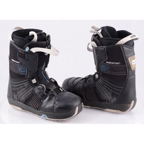 snowboardové topánky SALOMON KAMOOKS, THERMIC FIT, BLACK/blue