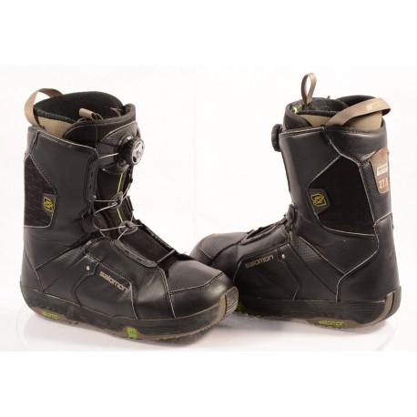 chaussures snowboard SALOMON SAVAGE RTL black/green, BOA TECHNOLOGY ( en PARFAIT état )