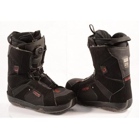 snowboard schoenen SALOMON SAVAGE RTL black/semish, BOA TECHNOLOGY