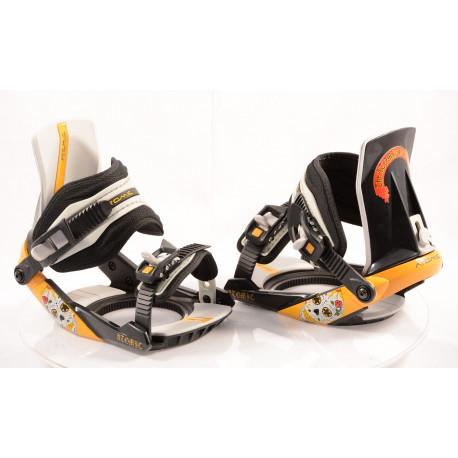 nové snowboardové vázání ATOMIC REVIVAL steel, BLACK/yellow, size S ( NOVÉ )