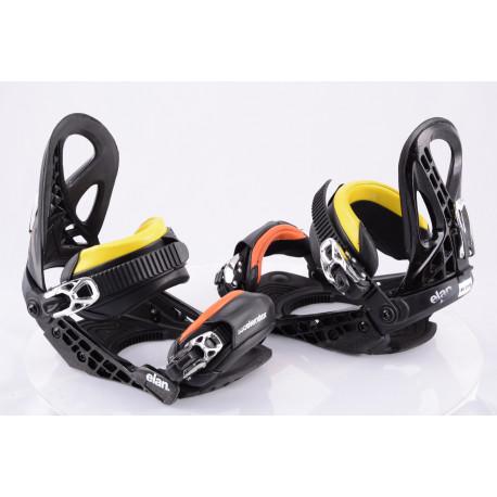 snowboardové viazanie ELAN ACCELERATOR 2018 BLACK/yellow/orange, size S, M ( TOP stav )
