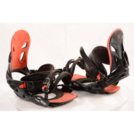 snowboardové viazanie NITRO FREESTYLE CUSTOM BLACK/red, size M/L