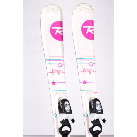 children's/junior skis ROSSIGNOL FUN GIRL 2018 + Look KIDX 4.5 ( TOP condition )