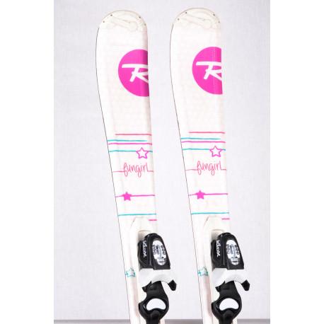 children's/junior skis ROSSIGNOL FUN GIRL + Look KIDX 4.5 ( TOP condition )
