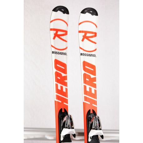 children's/junior skis ROSSIGNOL HERO J RED/white + Rossignol Xelium 7 ( TOP condition )