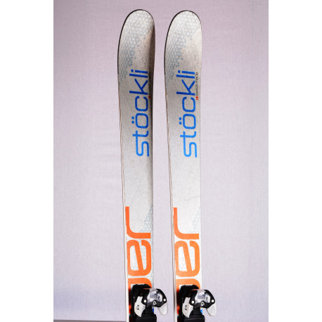 freeride skis STOCKLI STORMRIDER 88 SILV/ORANG 2018, titan, woodcore + Salomon Warden 12 ( TOP condition )