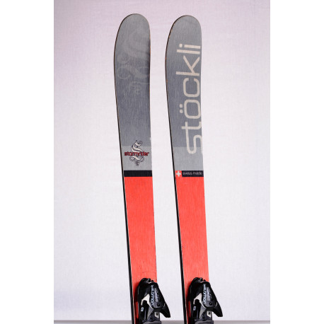 freeride skis STOCKLI STORMRIDER 88 RED/SILV, Titan, Woodcore + Salomon Z12