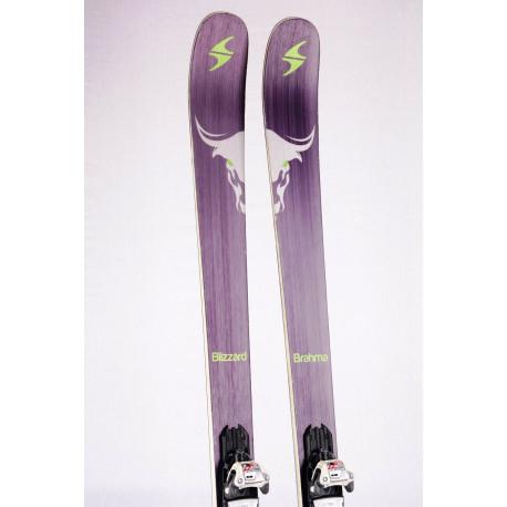skis BLIZZARD BRAHMA 88 FLIP CORE Grey/green, CARBON, WOODCORE + Marker Squire 11