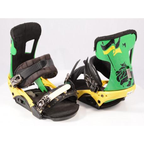 snowboard binding BURTON INFIDEL DISC, BLACK/yellow, M