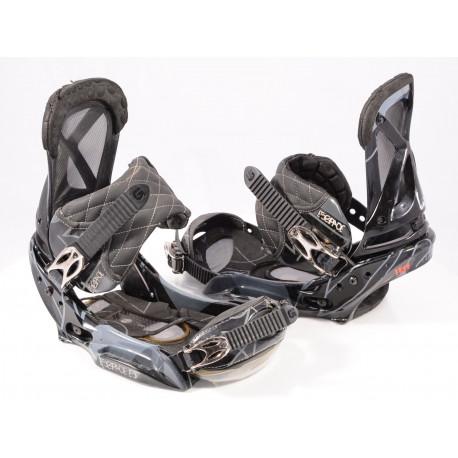 snowboard binding BURTON ESCAPADE EST, IBK, BLACK/grey, THE CHANNEL, size L