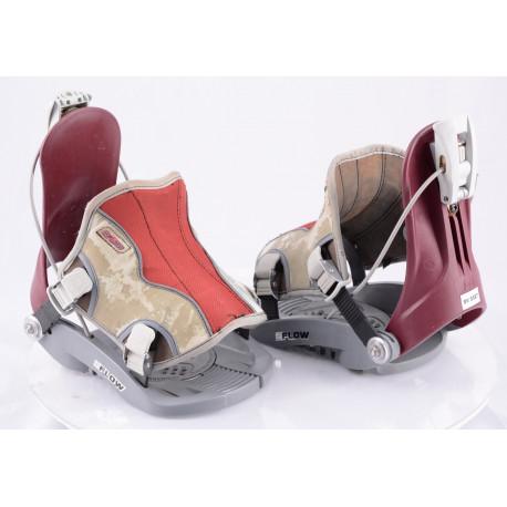 snowboardové viazanie FLOW, FASTEC system, grey/red, size M/L