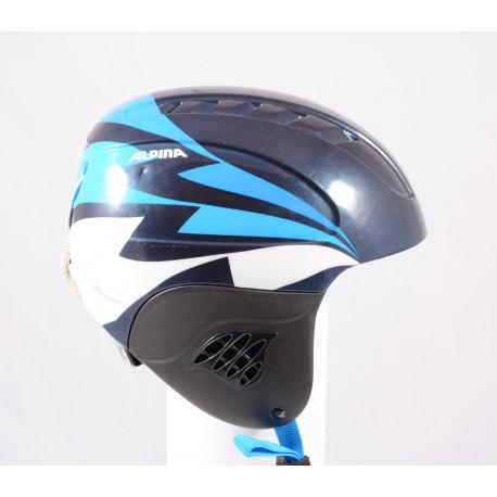 lyžařská/snowboardová helma ALPINA CARAT 2019, black/blue, nastavitelná ( TOP stav )
