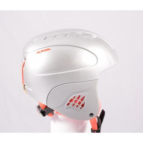 lyžařská/snowboardová helma ALPINA CARAT 2019, silver/orange, nastavitelná ( TOP stav )