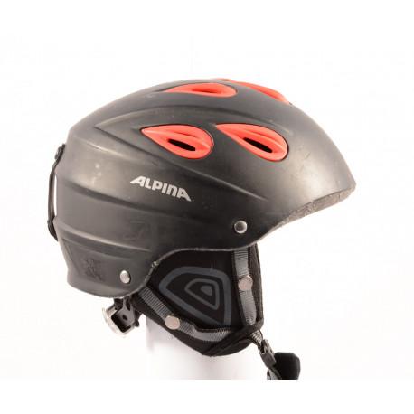 cască de schi/snowboard ALPINA JUNTA black/red, reglabilă