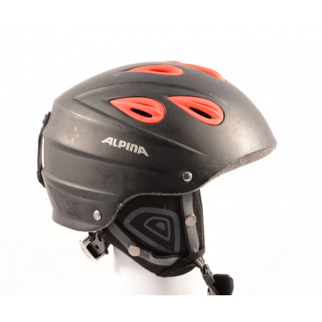 skihelm/snowboardhelm ALPINA JUNTA black/red, verstelbaar