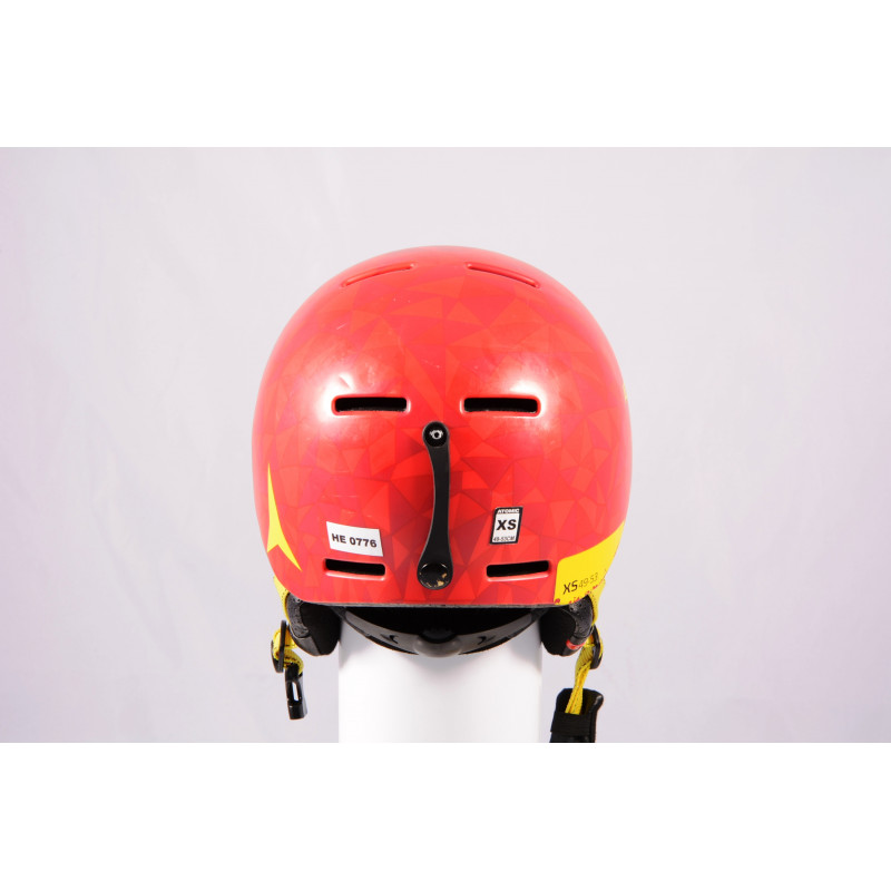 lyžiarska/snowboardová helma ATOMIC MENTOR JR 2020, Red/Yellow, einstellbar (TOP stav )