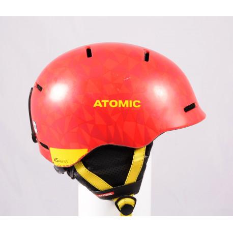skidhjälm/snowboardhjälm ATOMIC MENTOR JR 2020, Red/Yellow, justerbar