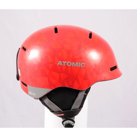 cască de schi/snowboard ATOMIC MENTOR JR 2020, Red/Grey, reglabilă