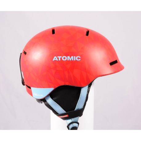 casco de esquí/snowboard ATOMIC MENTOR JR 2020, Red/blue, ajustable ( condición TOP )
