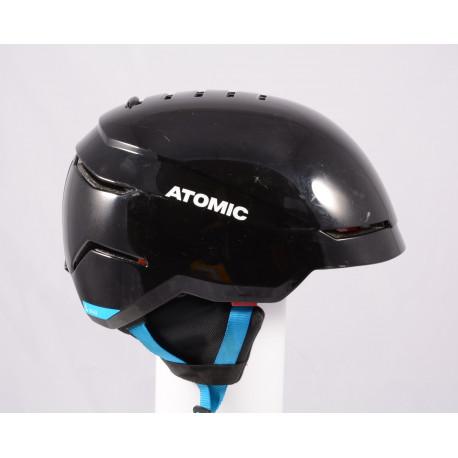 skidhjälm/snowboardhjälm ATOMIC SAVOR 2019, BLACK/blue, Air ventilation, justerbar ( TOP-tillstånd )