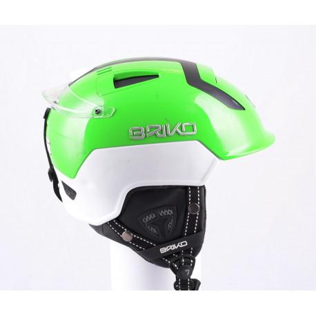 lyžařská/snowboardová helma BRIKO MONGIBELLO green/white, nastavitelná, air vent ( TOP stav )