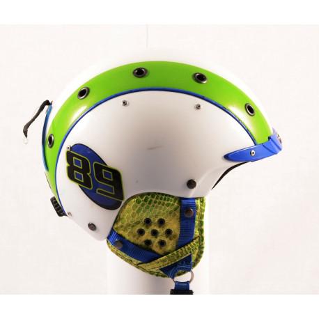 lyžařská/snowboardová helma CASCO MINI PRO 89 white/green, nastavitelná ( TOP stav )
