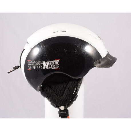 lyžiarska/snowboardová helma CASCO SNOW SHIELD, BLACK/white, einstellbar