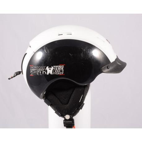 lyžiarska/snowboardová helma CASCO SNOW SHIELD, BLACK/white, einstellbar