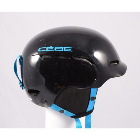 lyžiarska/snowboardová helma CEBE DUSK 2019, BLACK/blue, einstellbar