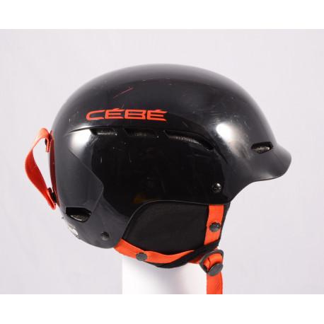 ski/snowboard helmet CEBE DUSK 2019, BLACK/red, adjustable