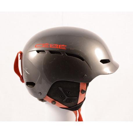 lyžiarska/snowboardová helma CEBE DUSK, grey/red, nastaviteľná
