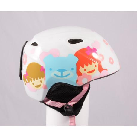 lyžiarska/snowboardová helma GIRO SLINGSHOT, White hearts, einstellbar ( TOP stav )