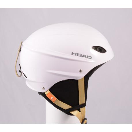 lyžařská/snowboardová helma HEAD 2020 WHITE/brown, nastavitelná ( TOP stav )