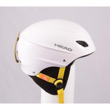 lyžařská/snowboardová helma HEAD 2020 WHITE/yellow, nastavitelná ( TOP stav )