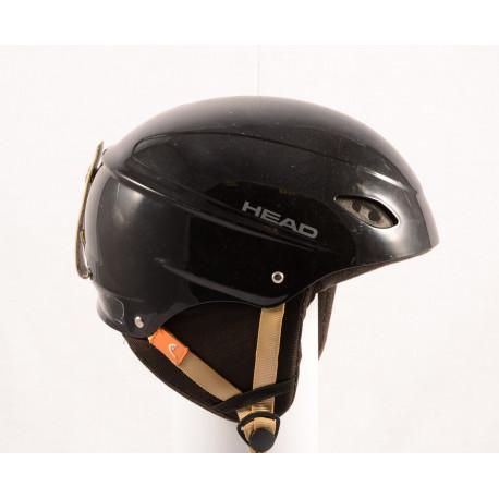 laskettelu/lumilautailu kypärä HEAD BLACK/brown, säädettävä