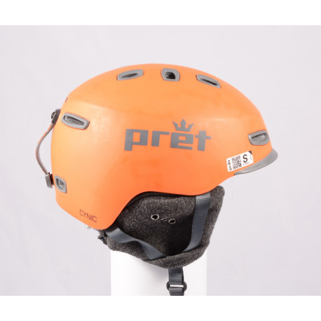 lyžiarska/snowboardová helma PRET CYNIC X Orange 2019, einstellbar ( ako NOVÁ )