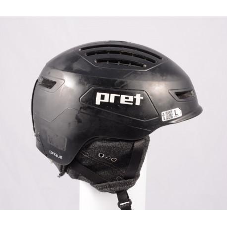 lyžiarska/snowboardová helma PRET CIRQUE X Black 2018, einstellbar