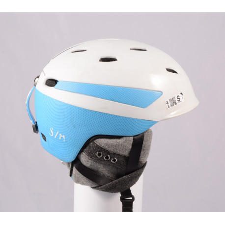lyžařská/snowboardová helma PRET EFFECT GRENZWERTIG 2019, WHITE/blue, Air ventilation, nastavitelná ( TOP stav )