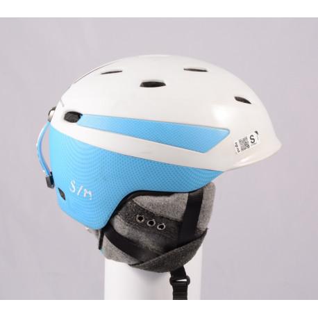 ski/snowboard helmet PRET EFFECT GRENZWERTIG 2019, WHITE/blue, Air ventilation, adjustable