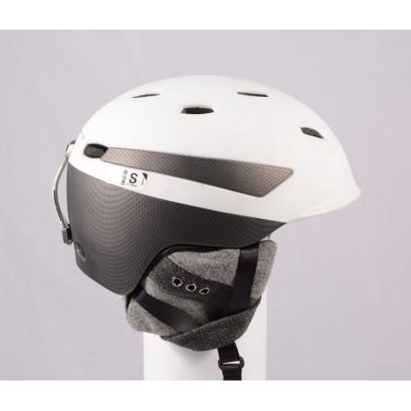 lyžařská/snowboardová helma PRET EFFECT GRENZWERTIG 2019, WHITE/grey, Air ventilation, nastavitelná ( TOP stav )