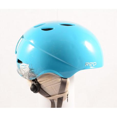 lyžařská/snowboardová helma RED HI FI 2 blue, custom air ( TOP stav )