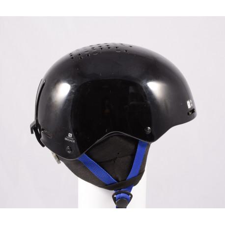 kask narciarsky/snowboardowy SALOMON BRIGADE 2020, Black/dark blue, regulowany ( TOP stan )
