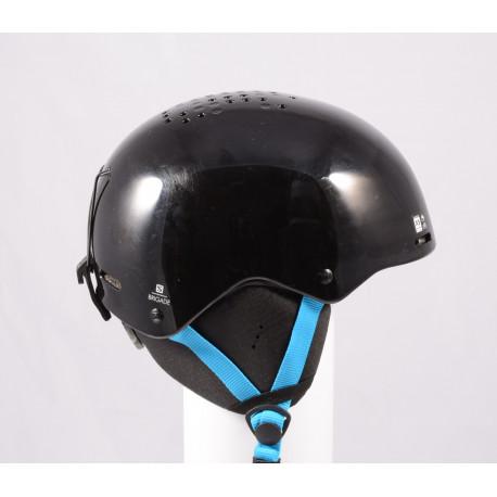 lyžařská/snowboardová helma SALOMON BRIGADE 2020, Black/blue, nastavitelná ( TOP stav )