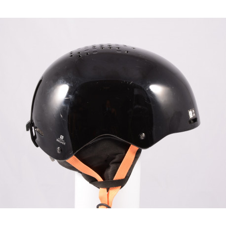 ski/snowboard helmet SALOMON BRIGADE 2020, Black/orange, adjustable ( TOP condition )