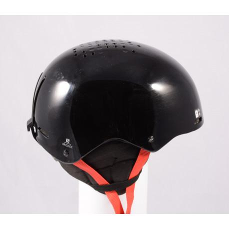 casque de ski/snowboard SALOMON BRIGADE 2020, Black/red, réglable ( en PARFAIT état )