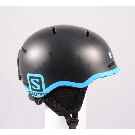 lyžiarska/snowboardová helma SALOMON GROM BLACK 2020, Black/blue, nastaviteľná